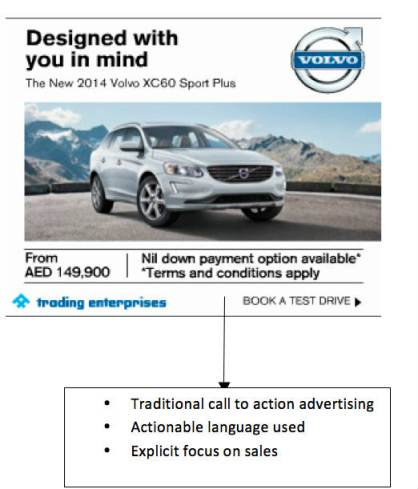 Volvo Call to Action