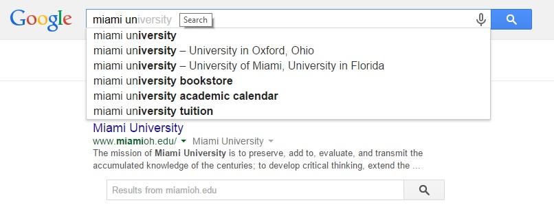 miami ricerca Google